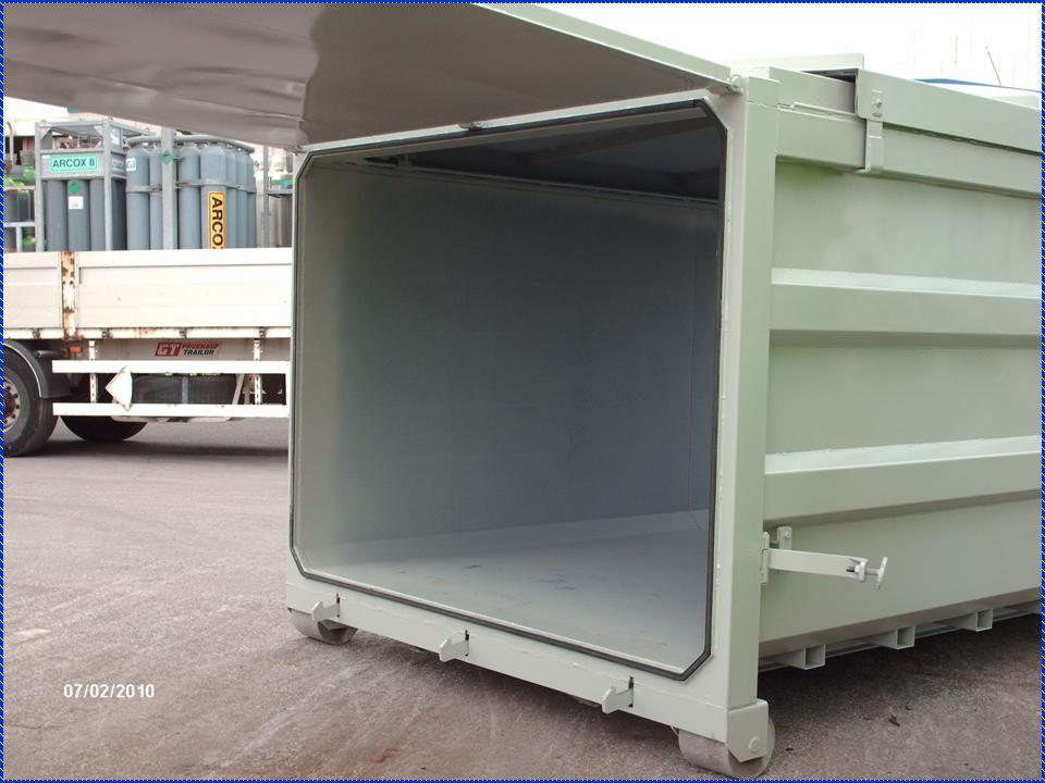 Sarl cmmi fabricant de bennes amovibles for Porte basculante